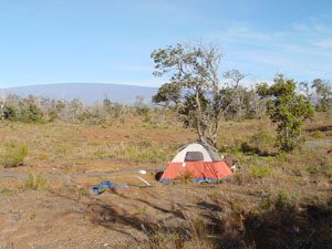 camping ground of the first night