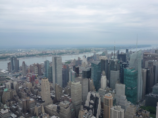 View north-west from the observation deck of the Empire State Building