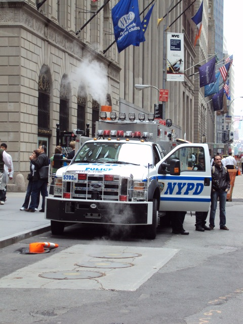Beware terrorists! The NYPD is gonna kick your butt (Wall Street)