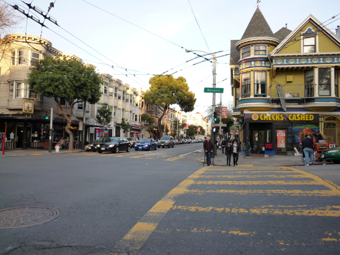 Colorful Haight Street