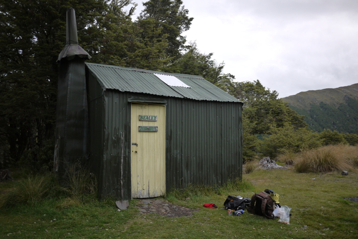 The Bealy Spur Hut, built in 1925