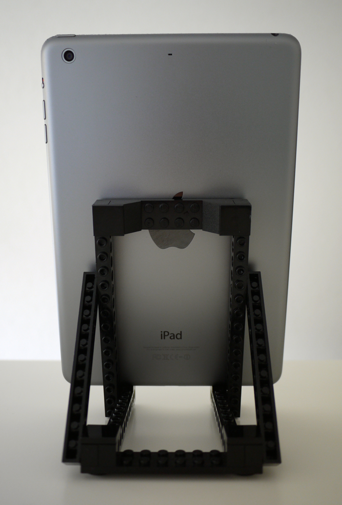 Back view with the iPad Mini