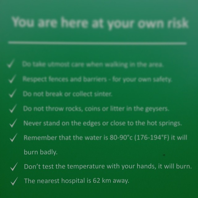 it will burn, it will burn badly, and just in case, there is no hospital