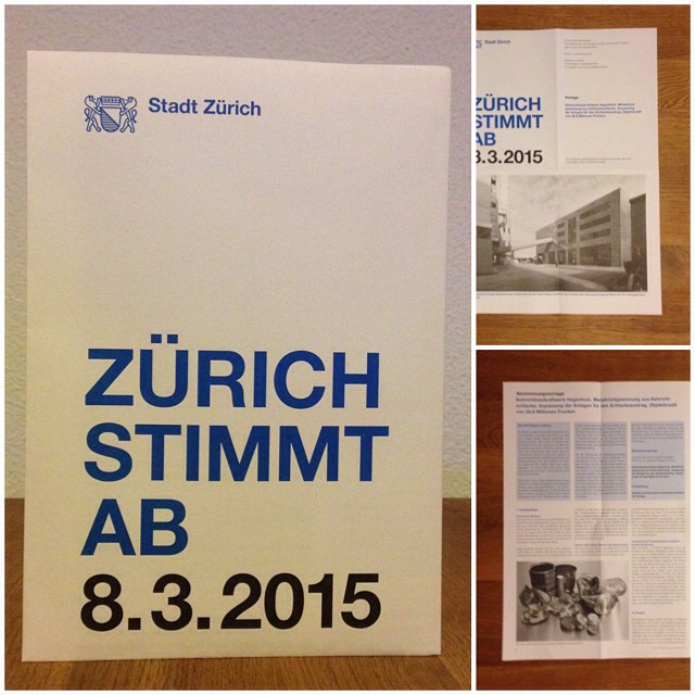 I like the design of Zurich's voting documentation