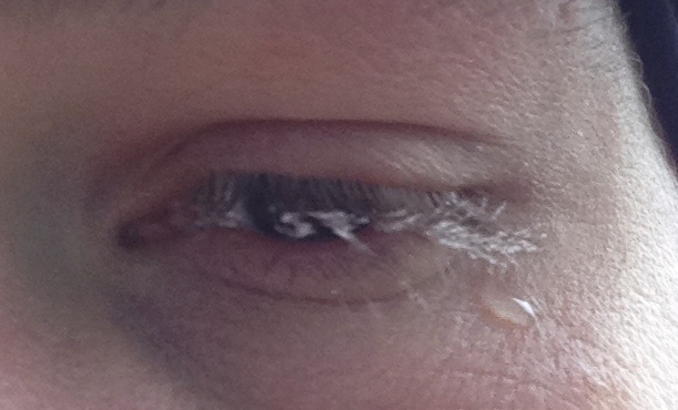That one time my eyelashes froze together